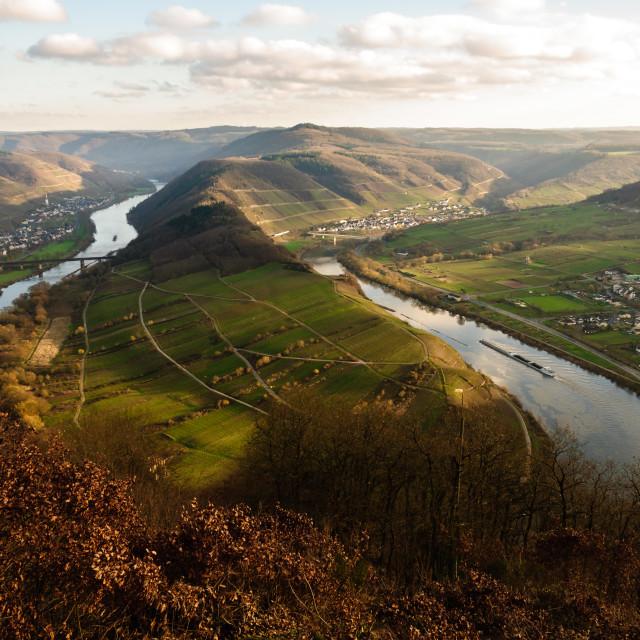 """Moselle Loop Bremm"" stock image"
