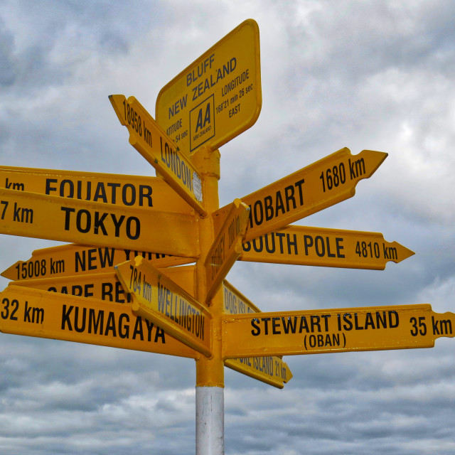 """Bluff signpost"" stock image"