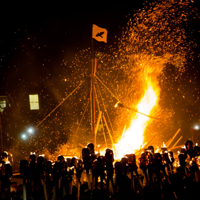 """Up Helly Aa Viking Fire Festival 2016"" stock image"