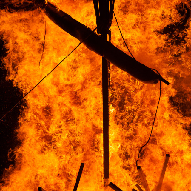 """""""Up Helly Aa Viking Fire Festival 2016"""" stock image"""