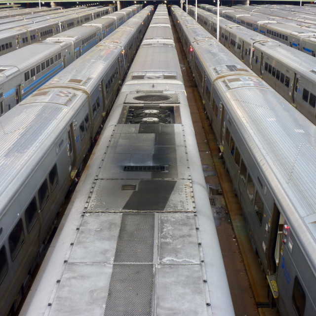 """New York Trains"" stock image"