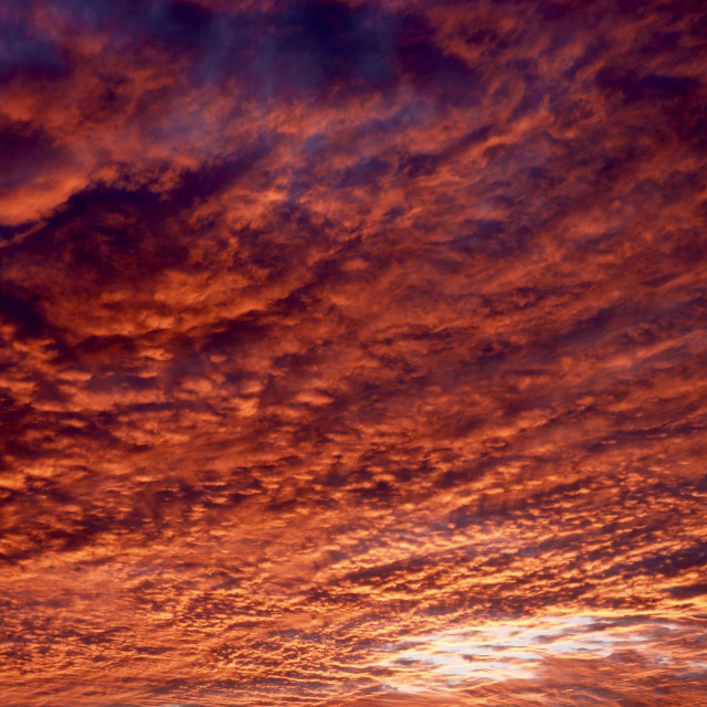 """Dramatic Sunset Clouds"" stock image"