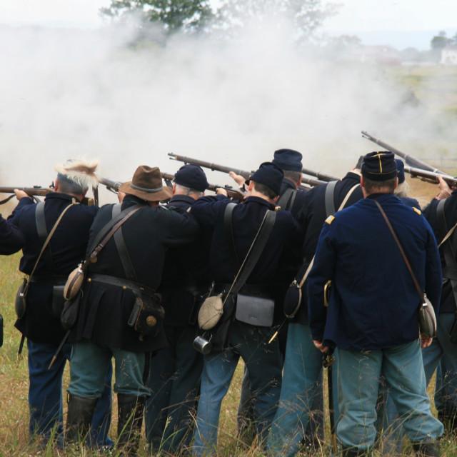 """""""Gettysburg Civil War"""" stock image"""