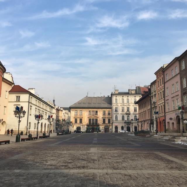 """""""Mały Rynek, Kraków Poland"""" stock image"""