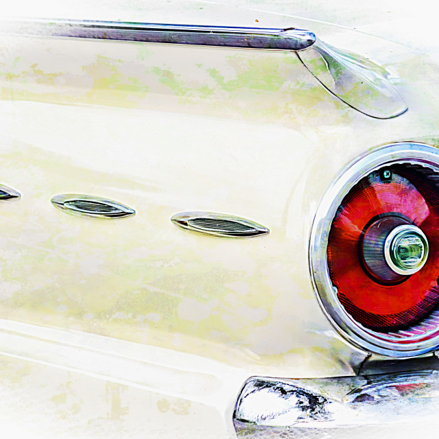 """1962 Ford Fairlane 500 detail"" stock image"