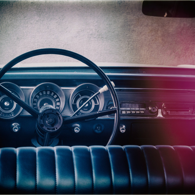 """Ford Fairlane Interior"" stock image"