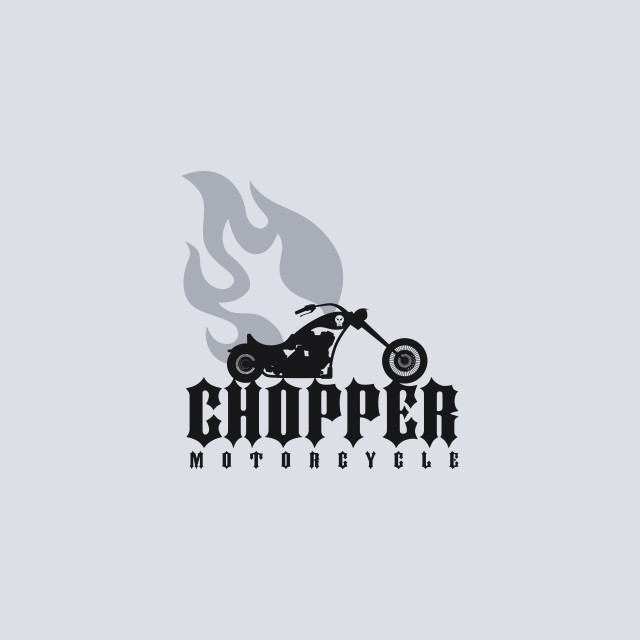 """""""fire chopper motorcycle"""" stock image"""
