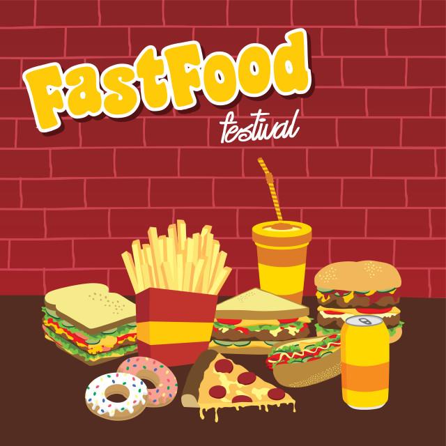 """fastfood snacks theme set"" stock image"
