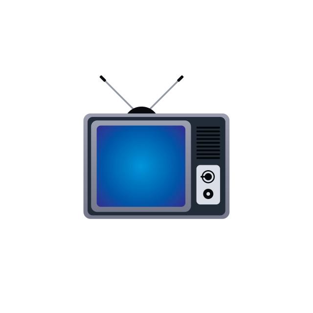 """""""flat televison icon"""" stock image"""