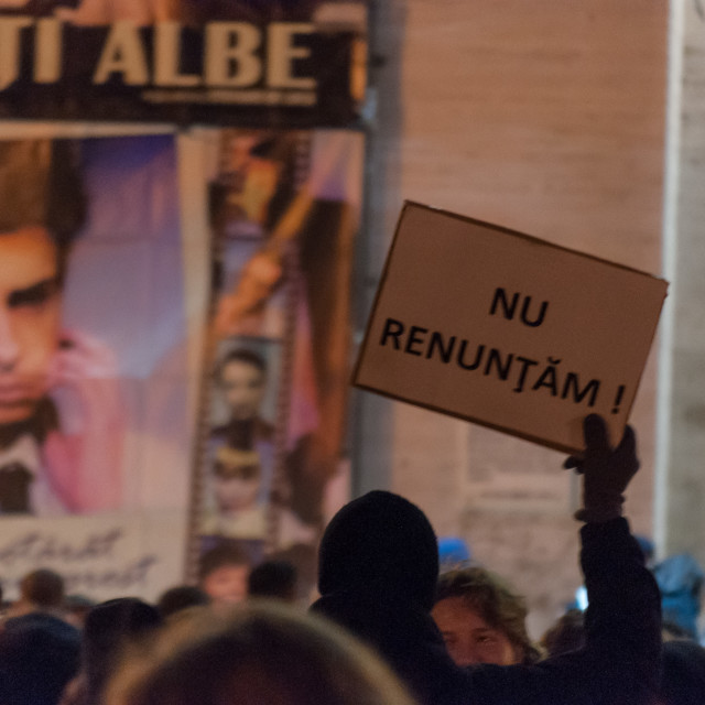"""""""Anti corruption rally. The romanian protesters are against the c"""" stock image"""