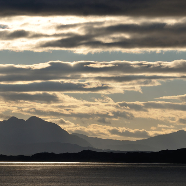 """""""Cloud layers over the west coast Scotland"""" stock image"""