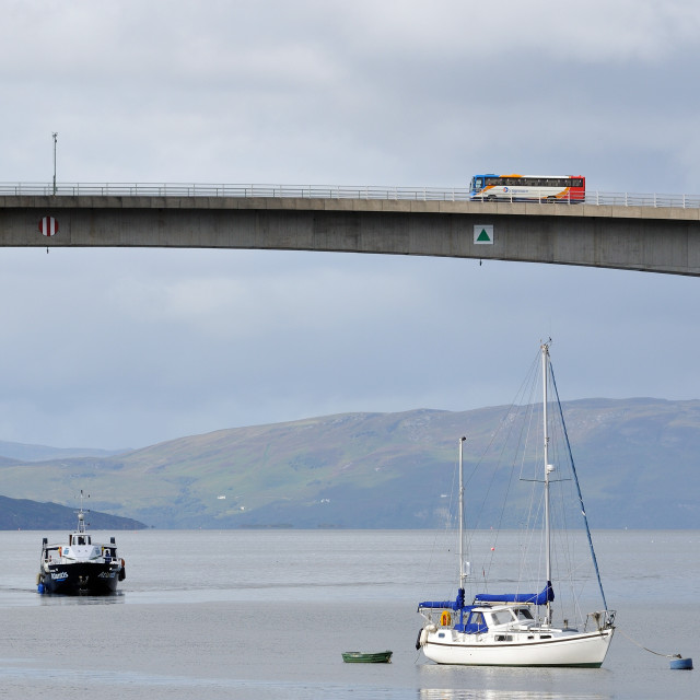 """Over the sea to Skye via the bridge"" stock image"