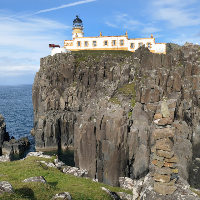 """Neist Point Lighthouse - Skye"" stock image"