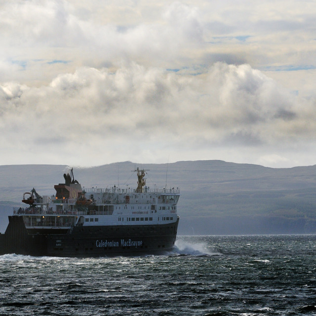 """Ferry to the Outer Hebrides"" stock image"