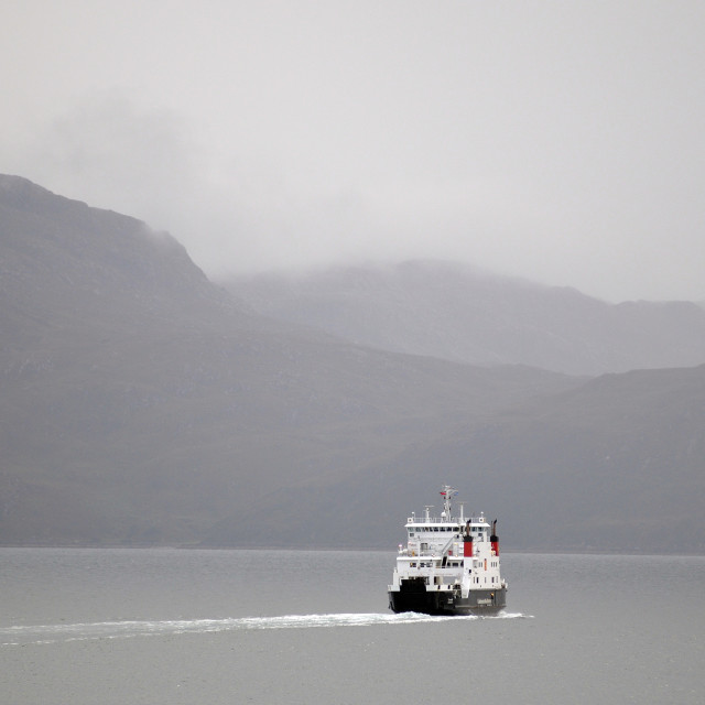 """Ferry heading to Mallaig, Highlands of Scotland"" stock image"