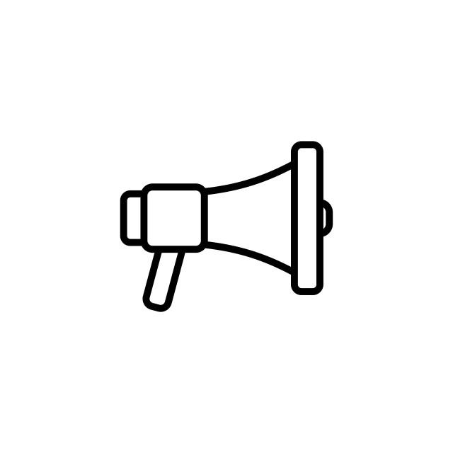 """loudspeaker icon vector flat design best vector icon"" stock image"