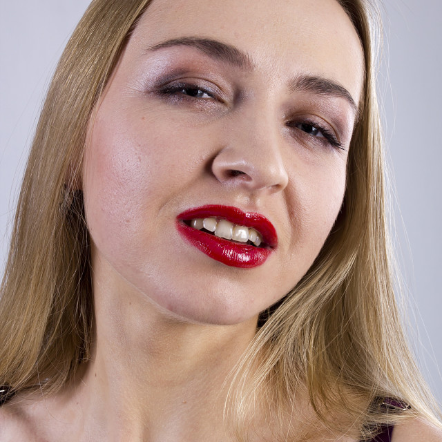 """""""Portrait of sensual young woman"""" stock image"""