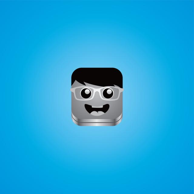 """geek guy avatar portrait"" stock image"