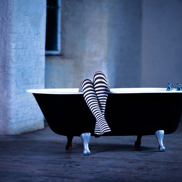 """Bathtime by moonlite"" stock image"