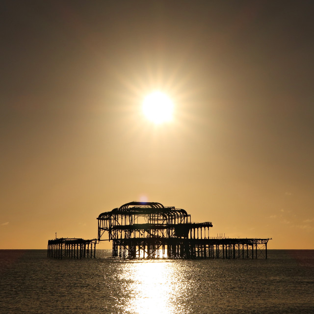 """Brighton West Pier."" stock image"