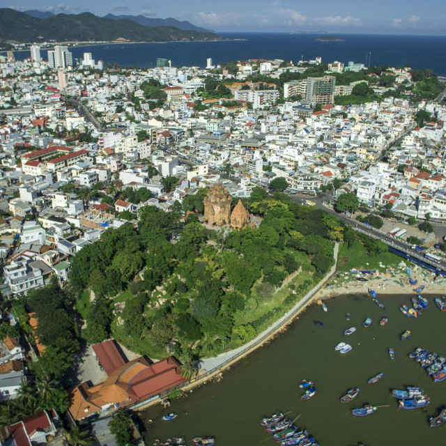 """Nha Trang city From Above"" stock image"