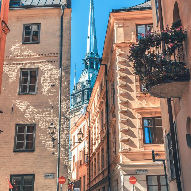 """Stockholm Gamla Stan"" stock image"