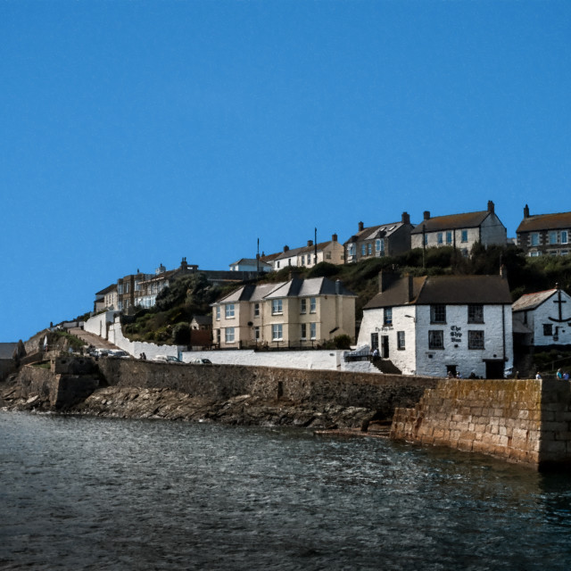 """Porthleven Ship Inn"" stock image"