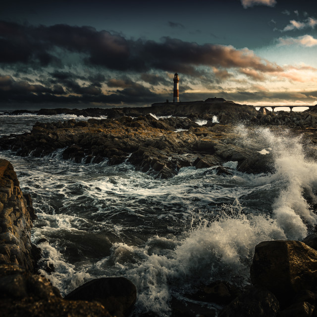 """Boddam Lighthouse"" stock image"