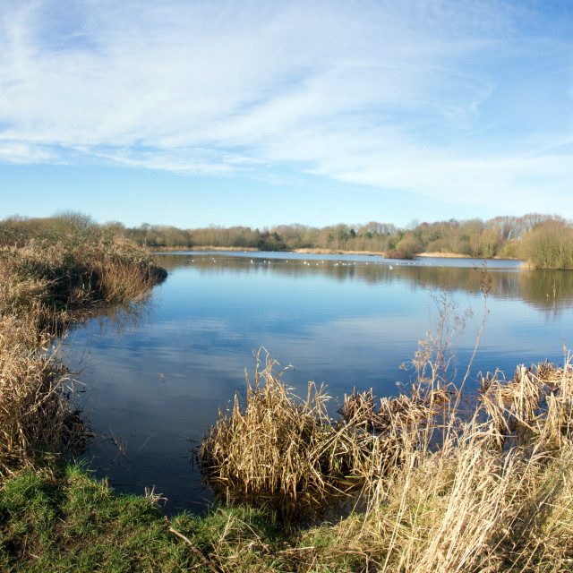 """Watermead Country Park, Leicestershire"" stock image"