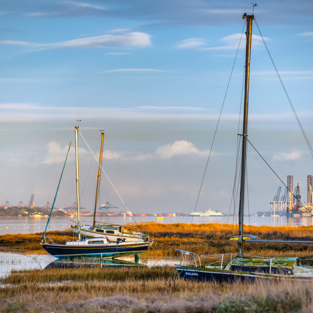 """""""Wrabness Meets Harwich"""" stock image"""