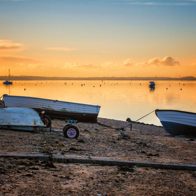 """Sunset Magic At Wrabness Beach"" stock image"