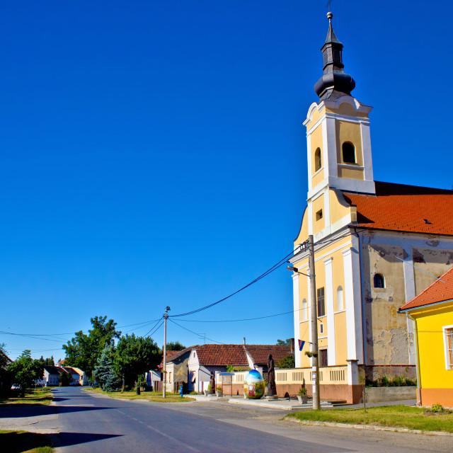 """Village of Hlebine in Podravina"" stock image"