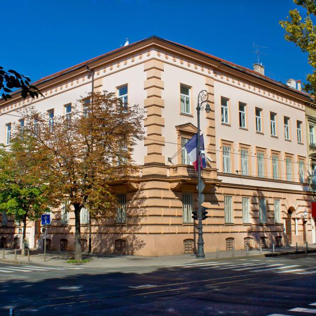 """""""Embassy of France in Zagreb"""" stock image"""