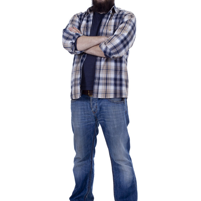 """""""Young man with a beard"""" stock image"""