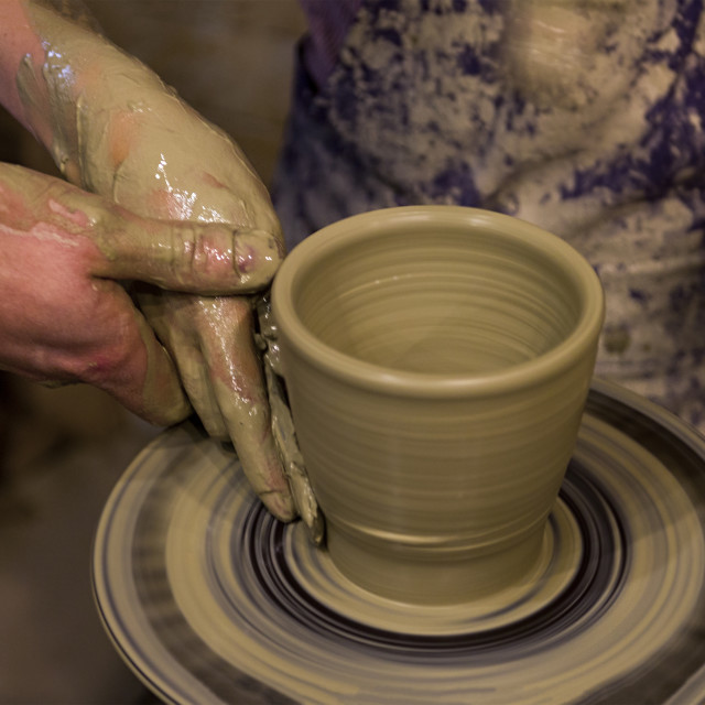 """Person Creation Pottery Handcraft"" stock image"