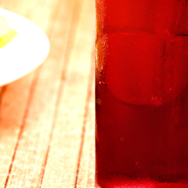 """""""Red cold drink"""" stock image"""