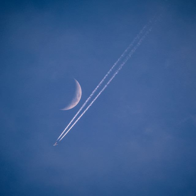 """Moon Flight"" stock image"