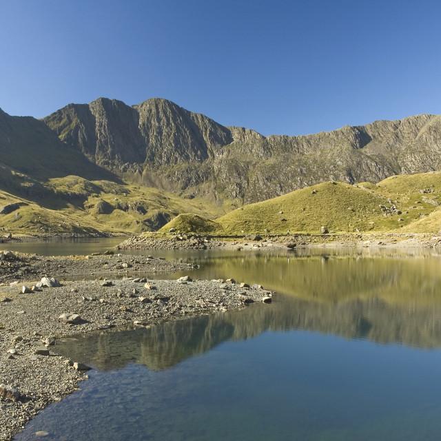 """""""Llyn Llydaw Snowdonia North Wales"""" stock image"""