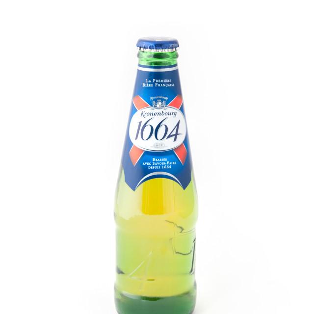 """""""Kronenbourg 1664 beer bottle"""" stock image"""