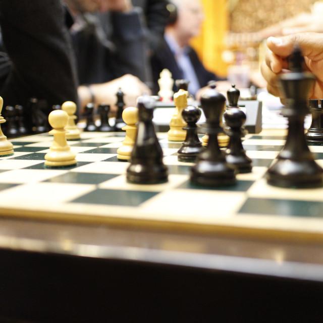 """Sidewalk chess"" stock image"
