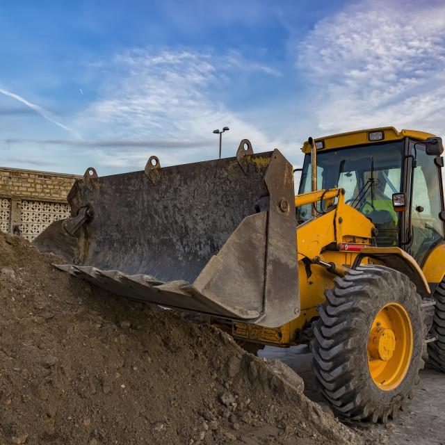 """excavator with shovel"" stock image"