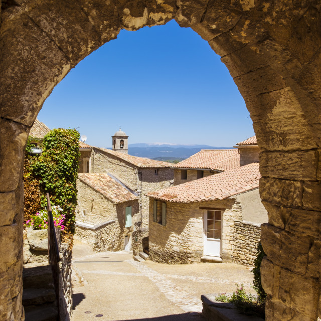 """Village of Lacoste in Provence France"" stock image"