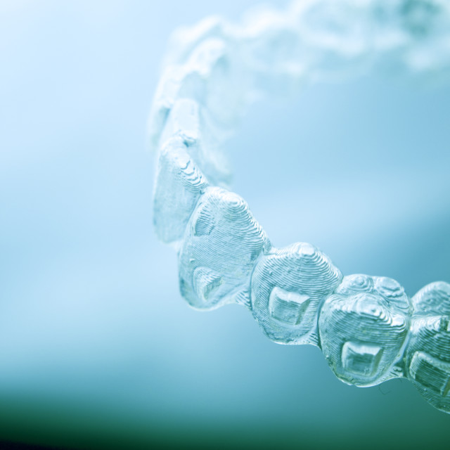 """""""Invisible aligners teeth retainers"""" stock image"""
