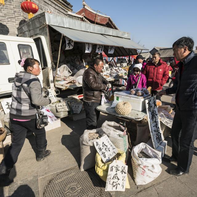 """China 's rural street market"" stock image"