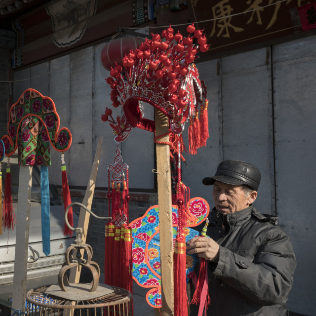 """Chinese New Year, the ancient town bazaar"" stock image"