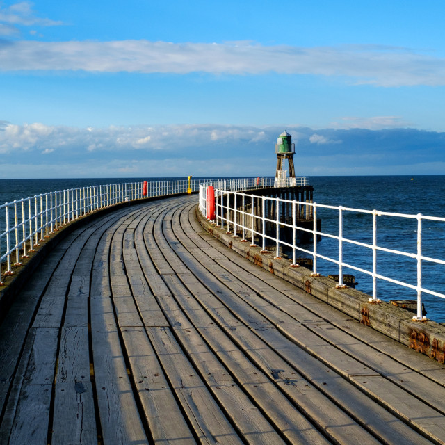 """Pier with lighthouse"" stock image"