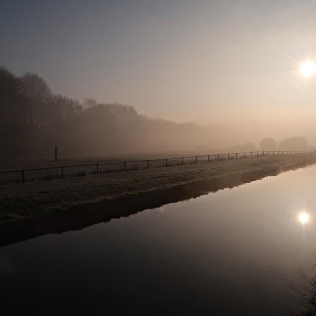 """Misty River Lea 1."" stock image"