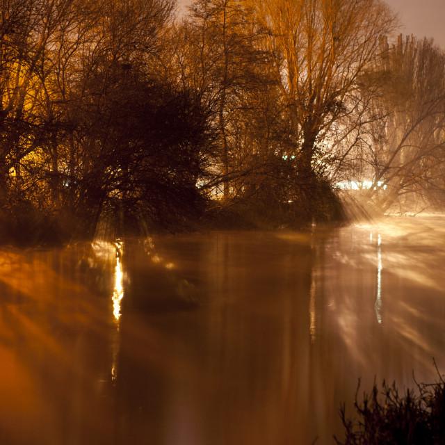 """""""Subtle River Mist."""" stock image"""