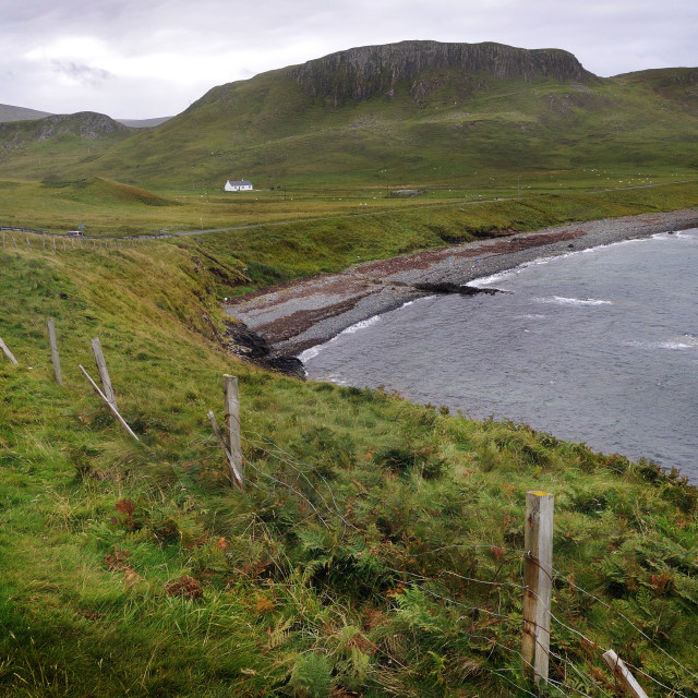 """The coast north of Kilmuir on the Isle of Skye"" stock image"
