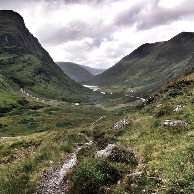 """Glencoe, Highlands of Scotland"" stock image"